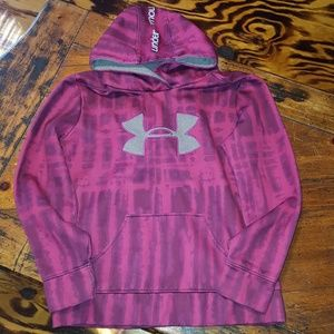 Girls large Under Armour hoodie pink & purple
